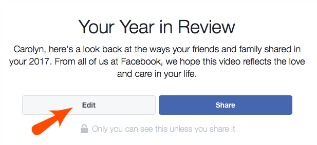 How to Edit Your Facebook Year in Review Video