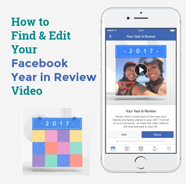 Find out how to see, edit and share (or hide) your Facebook Year in Review video.