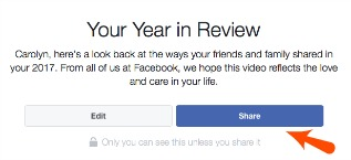 Facebook Year in Review Share Button