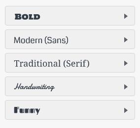 DesignEvo Font Categories