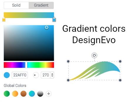 DesignEvo Gradient Colors