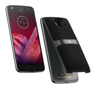 Front and Back of Moto Z 2 Play